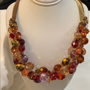Exquisite multicolor crystal necklace